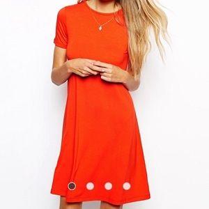 ASOS Short Sleeved Swing Dress
